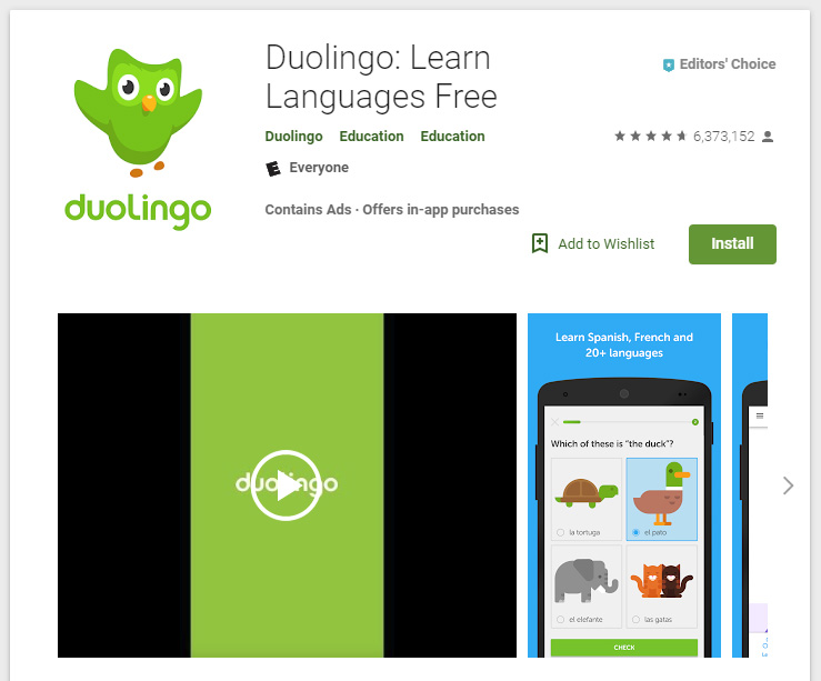 Duolingo can be installed for free on Android and iOS devices.