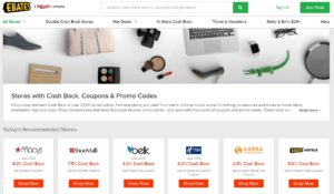 Ebates partners with over 2,500 online stores.